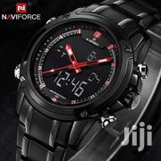Naviforce 9050 Men's Sport Stainless Steel Digital And Analog Watch   Watches for sale in Nairobi, Nairobi Central